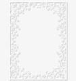 Paper floral frame vector image
