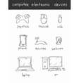 Computer electronic devices vector image
