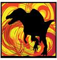 Abstract Dinosaur vector image