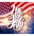 American Independence Day lettering design A vector image