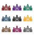 castle icon in black style isolated on white vector image