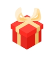 Christmas box icon cartoon style vector image