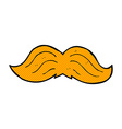 Comic cartoon ginger mustache vector image