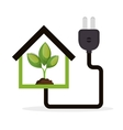 eco energy concept house plant vector image