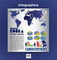 Infographics map of South Korea EPS10 vector image