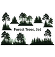 landscapes trees silhouettes vector image
