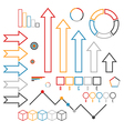 Set of infographics elements Outline vector image