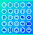 virtual reality solid circle icons vector image