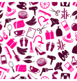 beauty theme big set of various icons seamless vector image