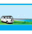 campervan tour vector image