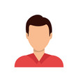 young man profile vector image