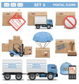 Postal Icons Set 6 vector image vector image