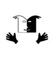 Theatre face symbol vector image