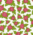 bright floral seamless pattern - flower with vector image vector image