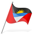 flag of Antigua and Barbuda vector image vector image