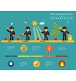 Business start-up growth process infographics vector image