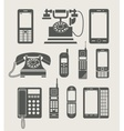 phone set simple icon vector image