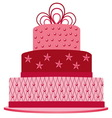 pink cake vector image vector image