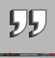 Quotation Marks Icon vector image