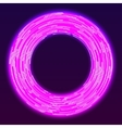 Glowing neon ring background vector image