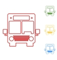 Bus Set of line icons vector image