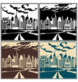 City and highway vector image