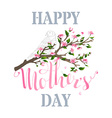 Happy Mothers Day Spring Card vector image
