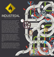 industrial piping background vector image