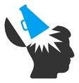 Open Brain Megaphone Flat Icon vector image