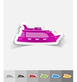 realistic design element cruise ship vector image