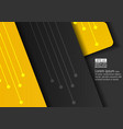 yellow and dark abstract background vector image