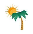 summer palm tree vector image vector image
