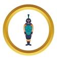 Ancient Egyptian warrior icon vector image