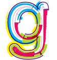 Colorful Grunge font Letter g vector image vector image