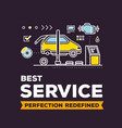 creative of car service workshop on vector image