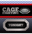 Cage Fighting MMA Poster Banner vector image