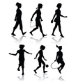 little girl silhouettes vector image
