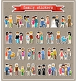 Stickers of family life in style flat design vector image vector image