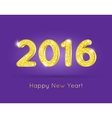 2016 Golden Glitter Digits with Happy New Year vector image