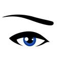 abstract blue eye vector image vector image