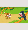 aesops fable the fox and the crow vector image