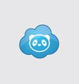 Blue cloud panda icon vector image