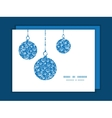 blue white lineart plants Christmas vector image