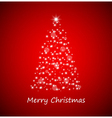 Christmas tree from stars vector image