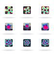 floral design elements set vector image