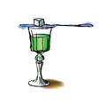 Glass of absinthe vector image