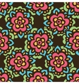 Seamless cute doodle flower pattern vector image