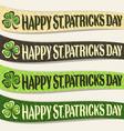 set of ribbons for saint patricks day vector image