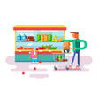 supermarket design flat vector image