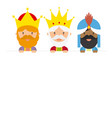 the three kings of orient vector image